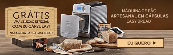 Máquina De Pão Artesanal Em Cápsulas Easy Bread Polishop + 20 Cápsulas De Brinde