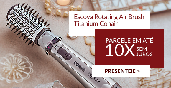 Escova Rotating Air Brush Titanium Conair