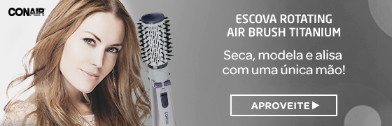 Escova Rotating Air Brush Titanium Conair Outlet