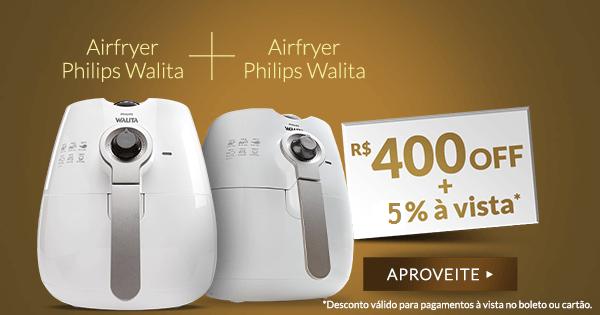 Fritadeira Airfryer Philips Walita (2 Unidades) + Livro